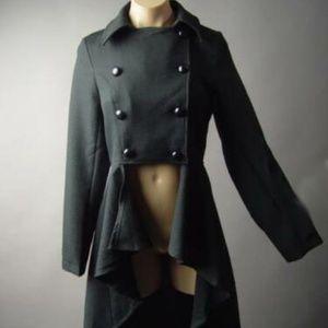 Jackets & Blazers - Black Military Steampunk Jacket, Tailcoat New